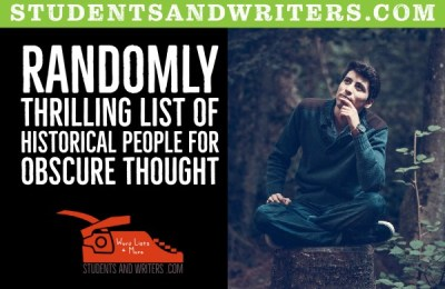 Read more about the article Randomly thrilling list of Actual people for obscure thought