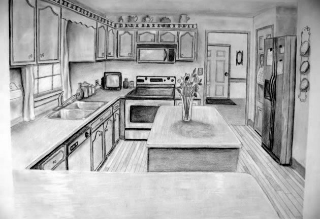 One Point Perspective Hs Art