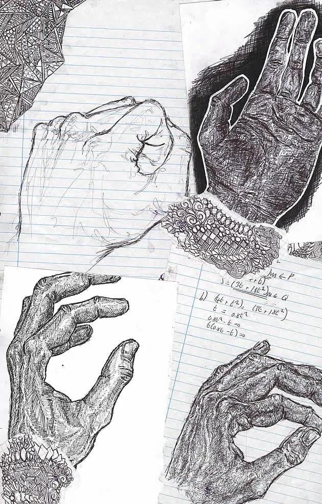 AS Art sketchbook page