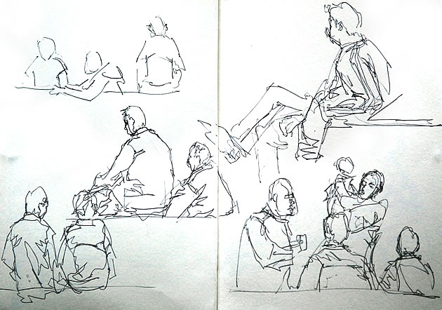 Contour Line Drawing Of Figures : Line drawing a guide for art students rajesh jain g