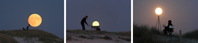 forced perspective photography of the moon