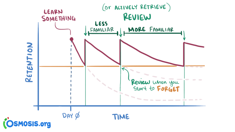 spaced repetition timing
