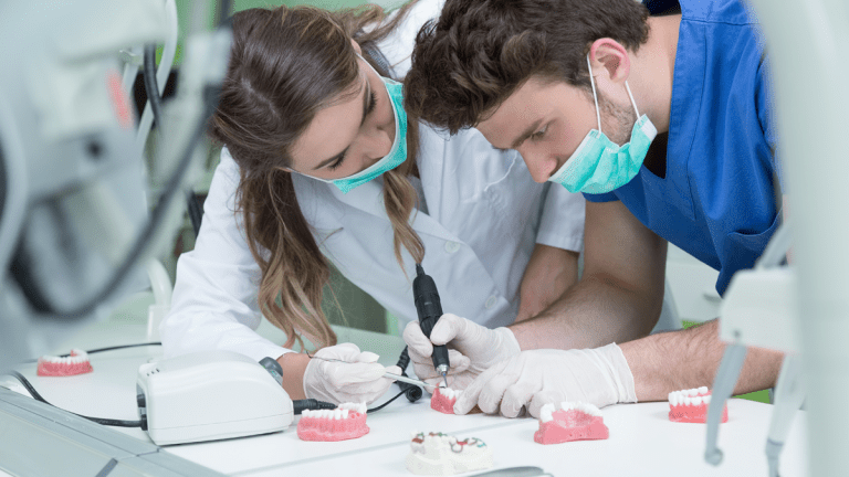 Dental Students in Lab