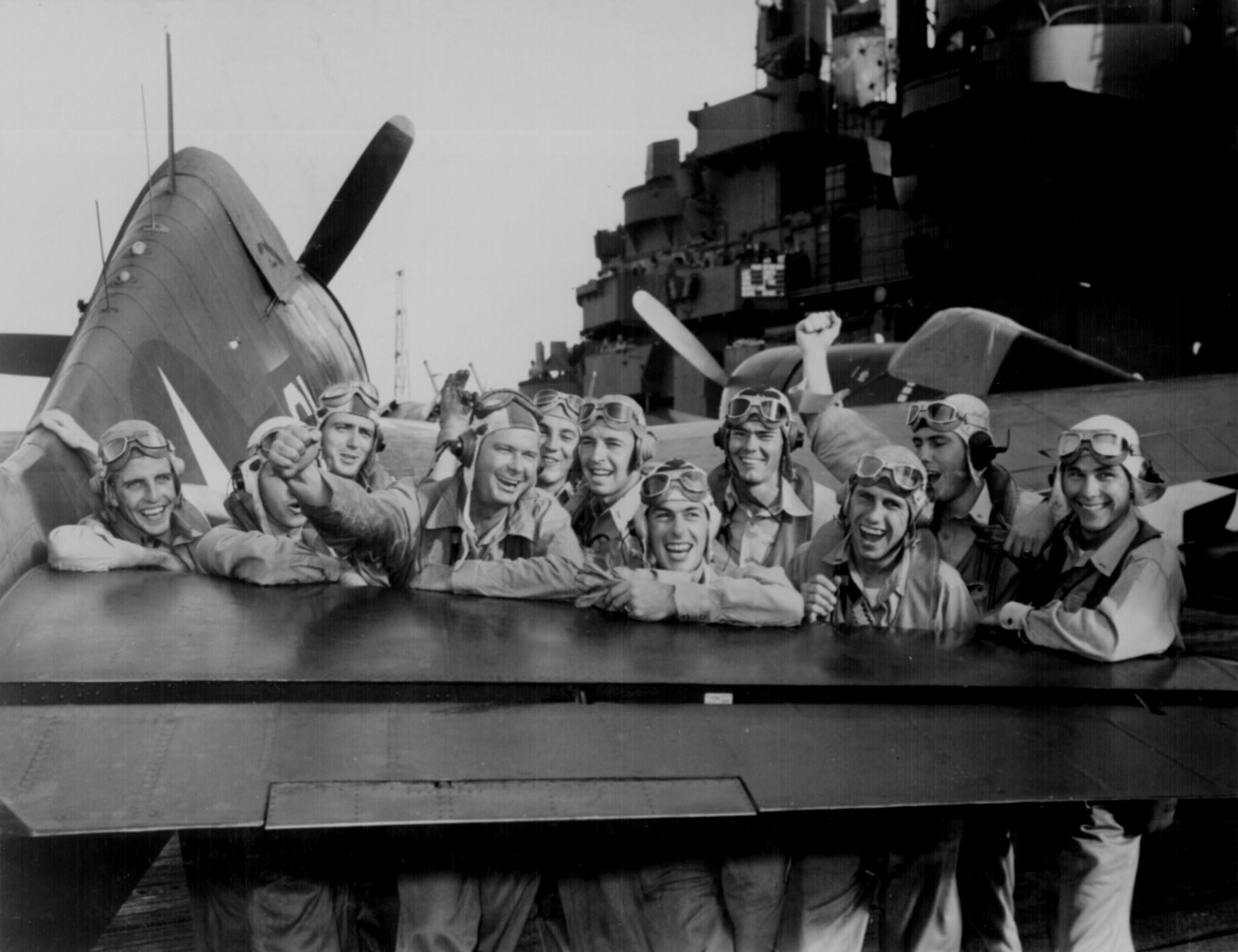 F6f Hellcat Fighter Pilots In Wwii