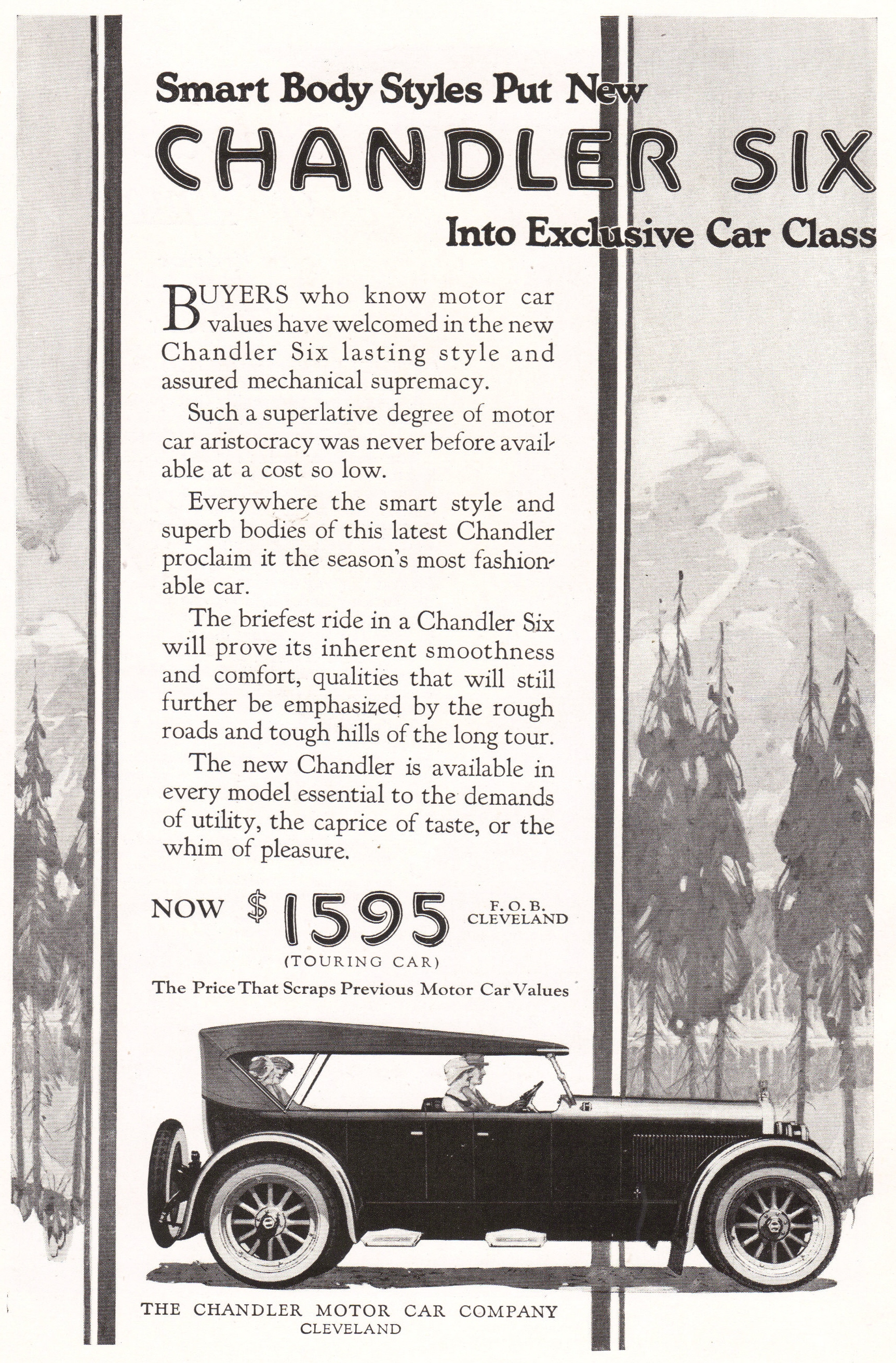 Chandler Motor Car Company Ad