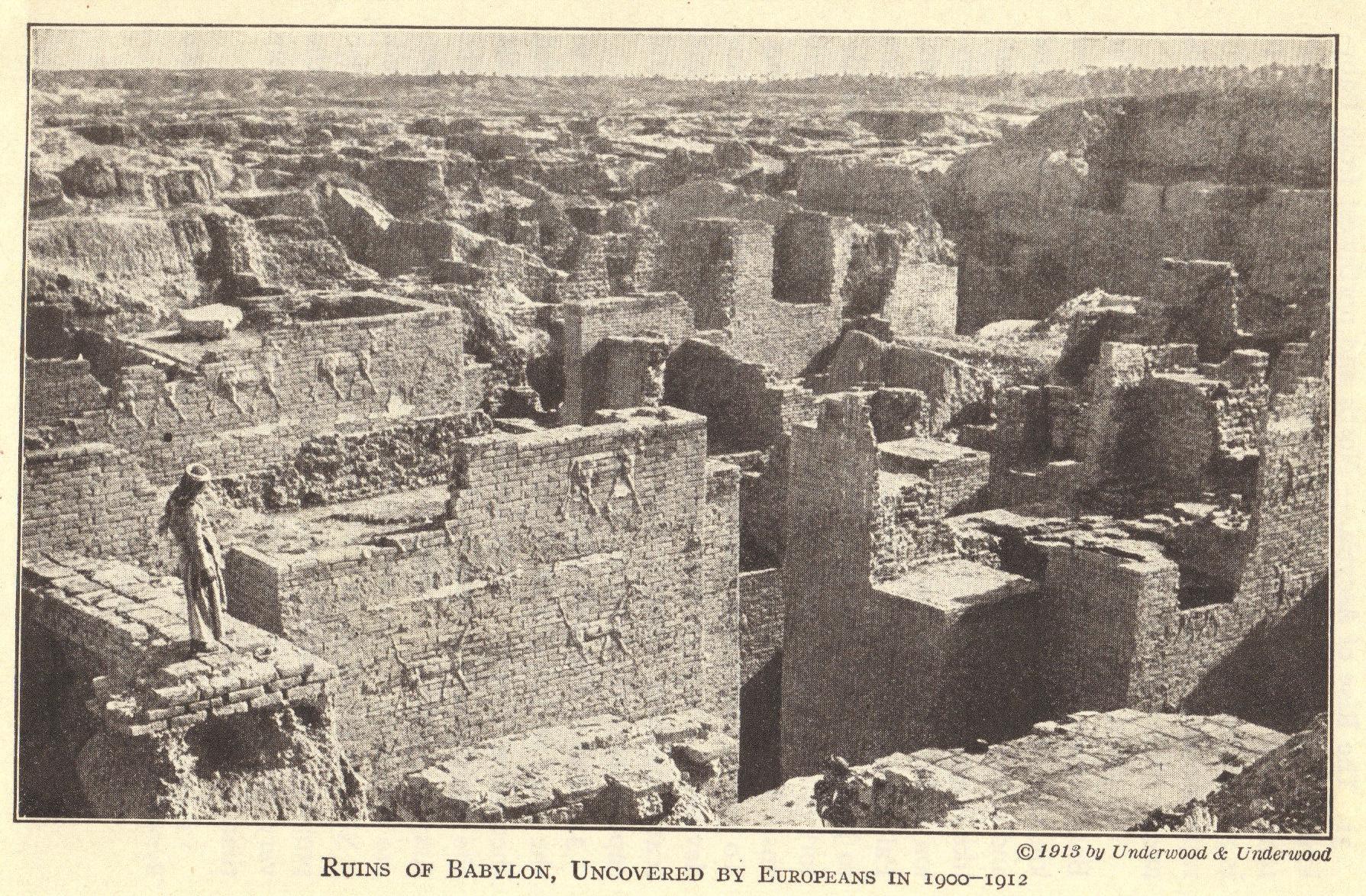Ruins Of Ancient Babylon In Modern Iraq