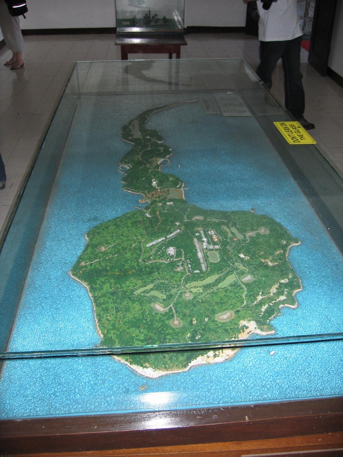 Corregidor Relief Map Display