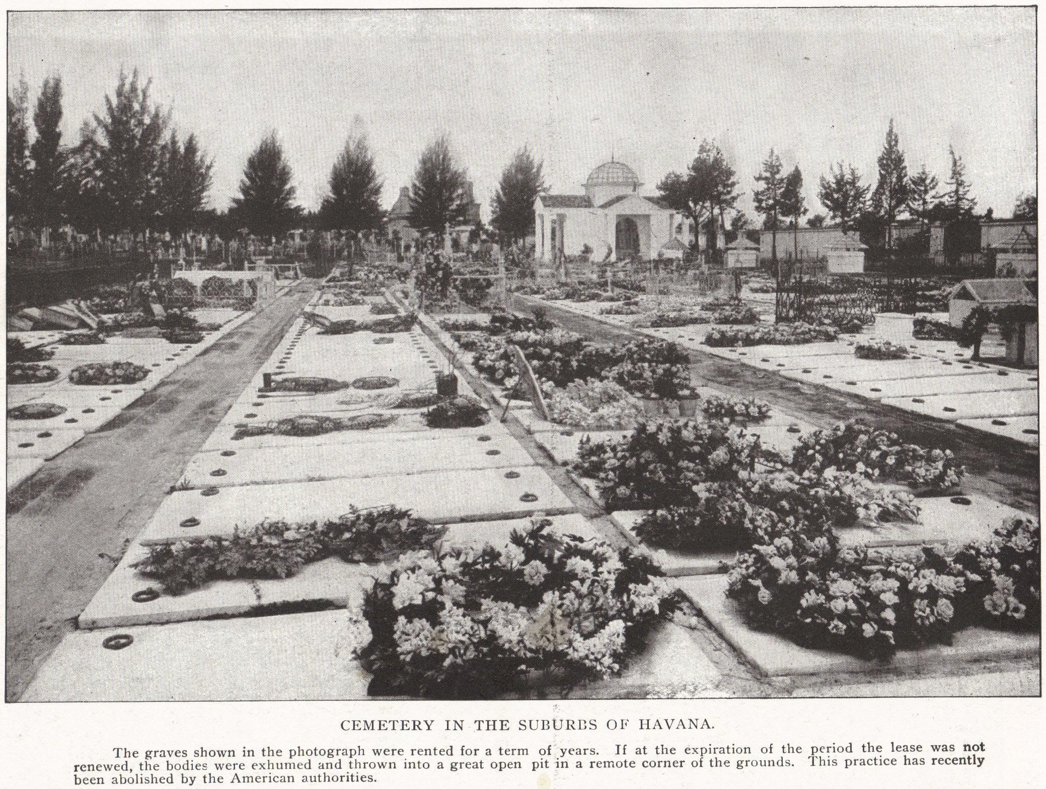 Cemetery In The Suburbs Of Havana Cuba
