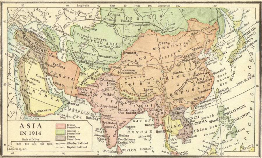 Map of Asia in 1914   Imperialism   Student Handouts Imperialism in Asia  Map of European  American  and Japanese colonial  possessions in Asia