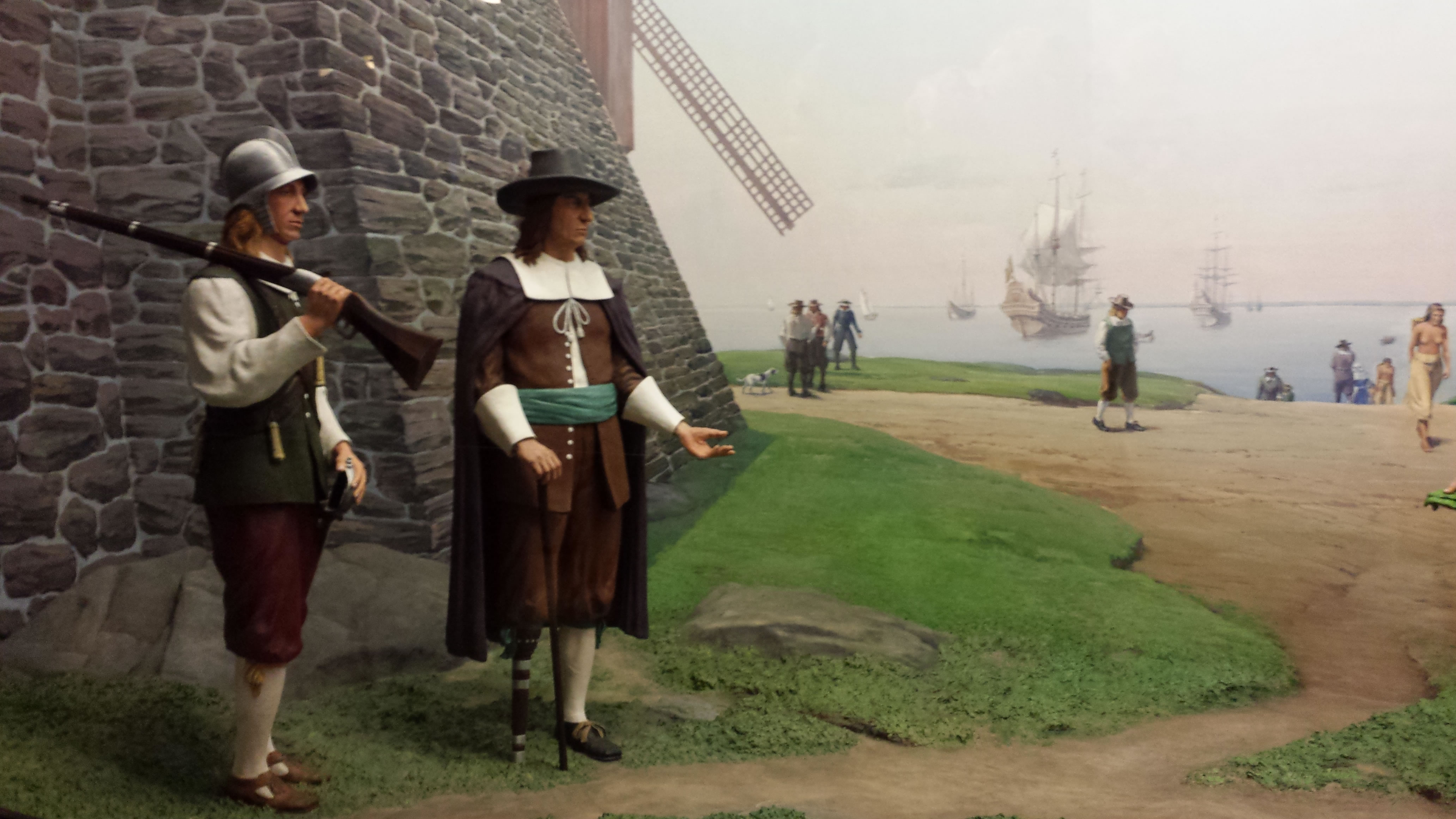 Diorama Of Old New York