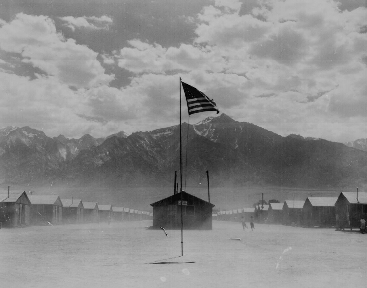 Dust Storm At Japanese Internment Center