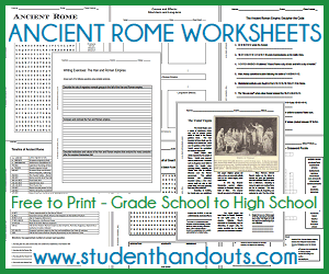 Ancient Rome Worksheets Free To Print Student Handouts