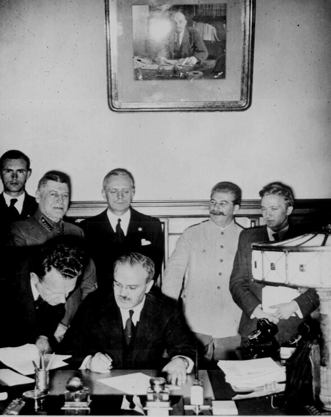 Signing Of The German Soviet Nonaggression Pact