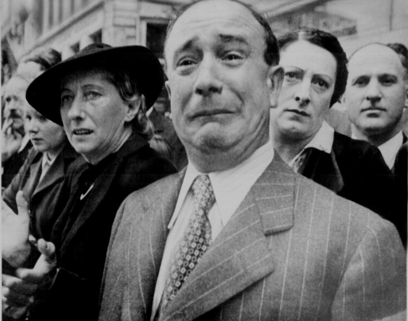 A Frenchman Weeps As Nazi Sol Rs March In Paris France