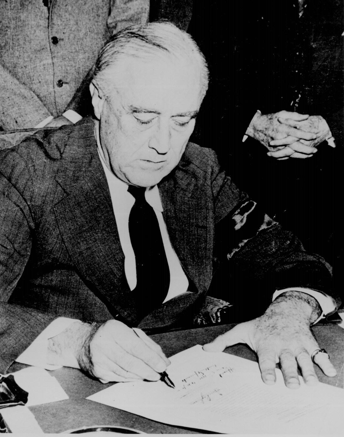 U S President Franklin D Roosevelt