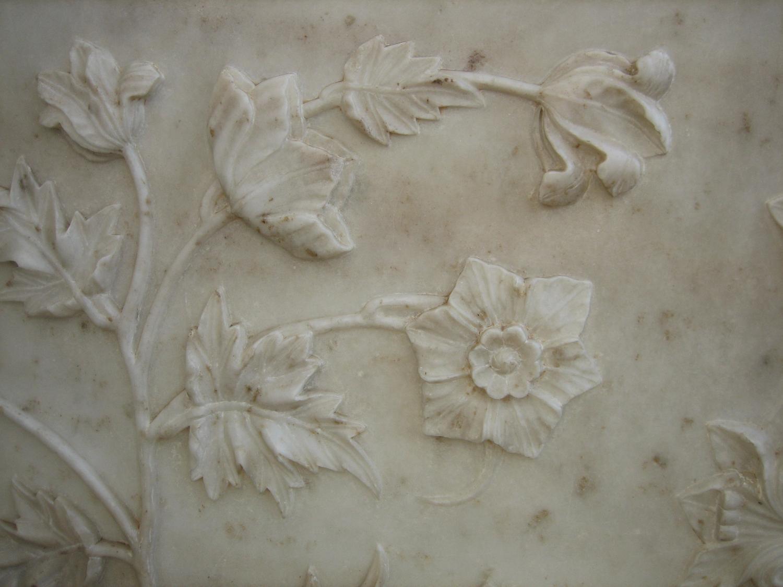 Marble Floral Carving At The Taj Mahal