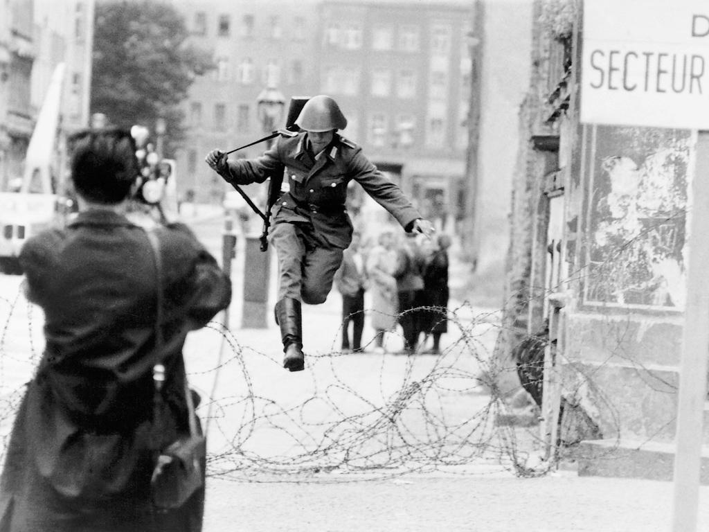 East Vs West Berlin Wall