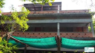 The Ecodorm in Pitchandikulam Forest is our class room and dormitory