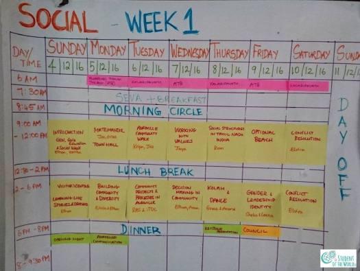 Schedule Social Week