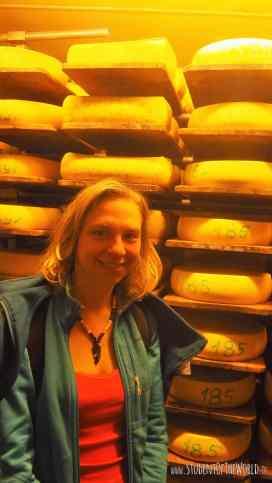 Visiting an organic cheese farm