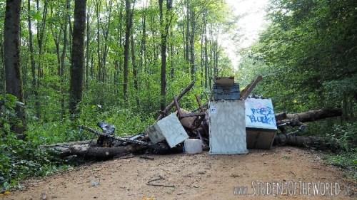 Barricades at Hambacher Forst