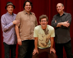 Johnny Vidacovich, Steve Masakoski, James Singelton and Tony Dagradi of Jazz group Astral Project from New Orleans, LA. They played in Bennet Auditorium at The University of Southern Mississippi on August 16 2013. Hattiesburg, Miss. Julie Prestidge, Printz