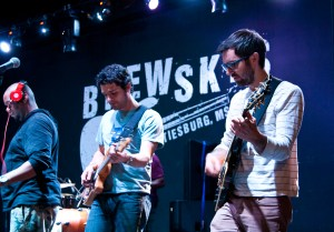 Members of Snarky Puppy play a song for the audience at the workshop that took place at Brewsky's on Saturday for School of Music students. Zachary Odom/Printz