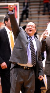 Southern Miss men's head basketball coach Donnie Tyndall looks to lead the Golden Eagles into March Madness. Hunt Mercier/Printz