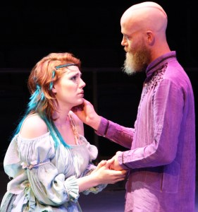 """Derrick Phillips and Emily Classen from USM's Department of Theatre perform Shakespeare's """"The Tempest"""" April 17 and 18. More performances are scheduled April 22-26 at 7:30  p.m. and a matinee performance is scheduled for April 27 at 2 p.m. Michael Kavitz/Printz"""