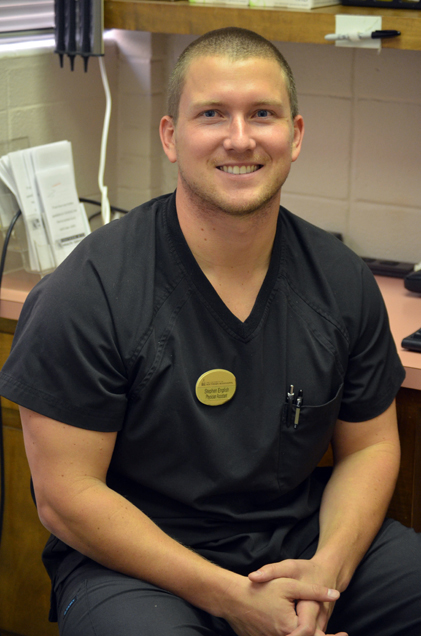 The Student Health Clinic's new hire, Stephen English, has taken the position of physician's assistant. With the addition of a this provider, the clinic hopes to become more approachable to the male portion of the student body.  - Kara Davidson