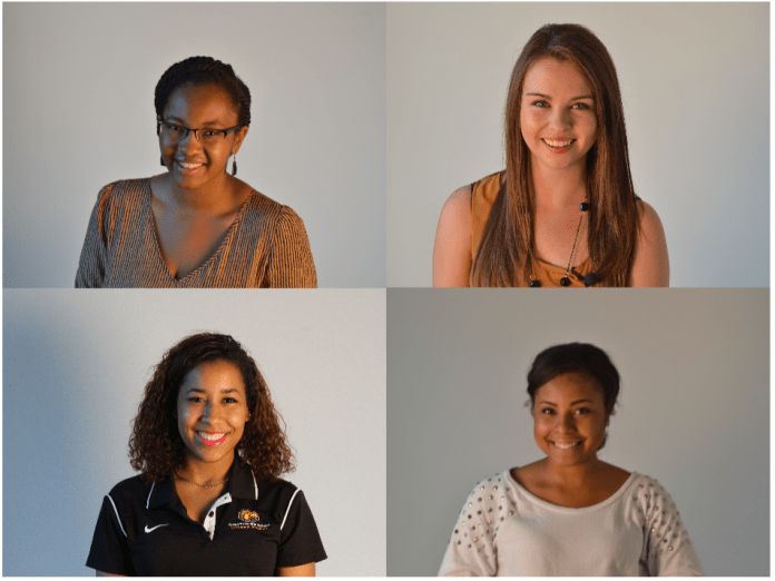 Shanice Floore (top left) Jaycee Padgett (top right) Moriah Moorer (bottom left) Shonice Musgrove (bottom right) - Photos by Jordan Crump, The Student Printz