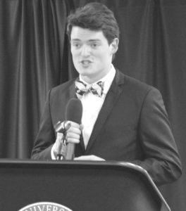 Cameron Cloud, a sophomore majoring in Bio-chemistry and Communication Studies is the ambassador of the Honors College and will be running for the president in the upcoming Student Government election.