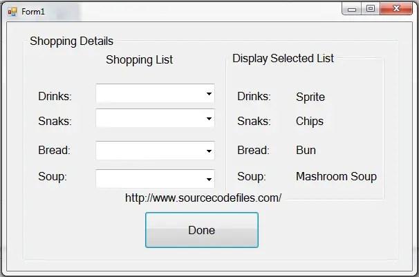 shopping detail