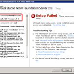 Visual studio dot net framework error