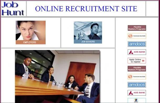 Online Job Site Report