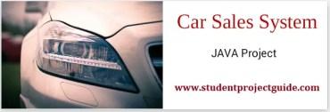Car Sales System