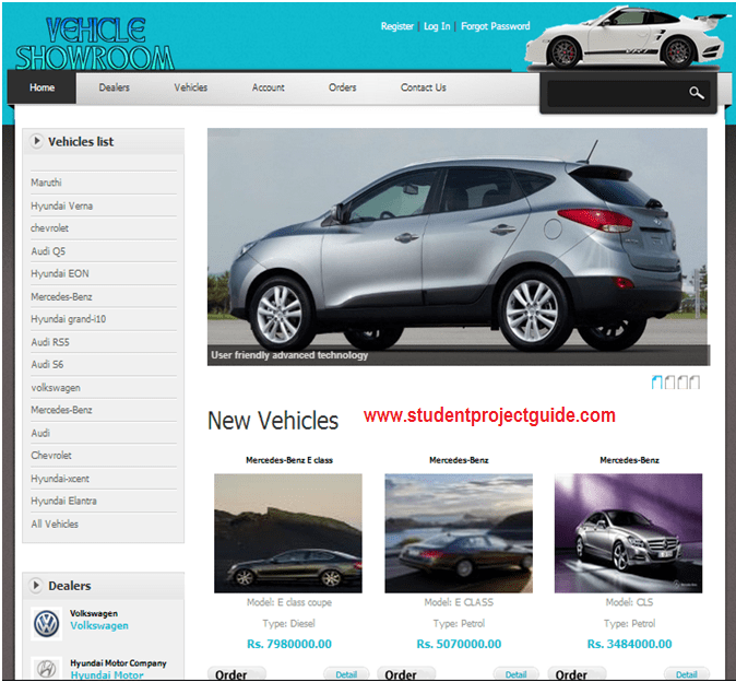 Online Car Showroom