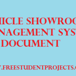 Vehicle showroom management system SRS