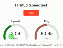 Internet Speed Test Meter