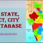Indian State, District, City SQL Database