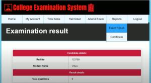 College Examination System