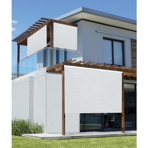 tidyard store occultant patio store enrouleur 100 x 140 cm beige store roulant dexterieur pour balcon polyethylene veranda ou pergola jardin fitelegance mobilier de jardin