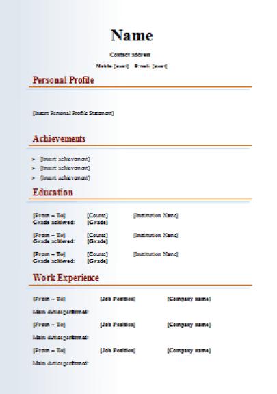 Multimedia-Media-CV-Template