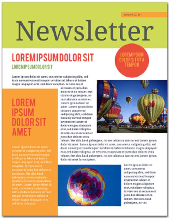 classroom newsletter template 2