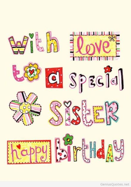 happy birthday to sister quotes