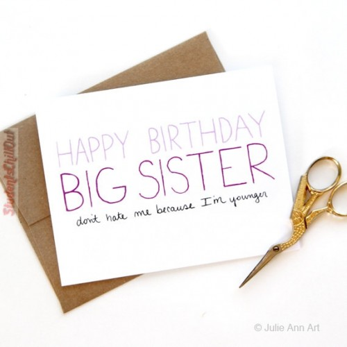 happy birthday cards for a sister