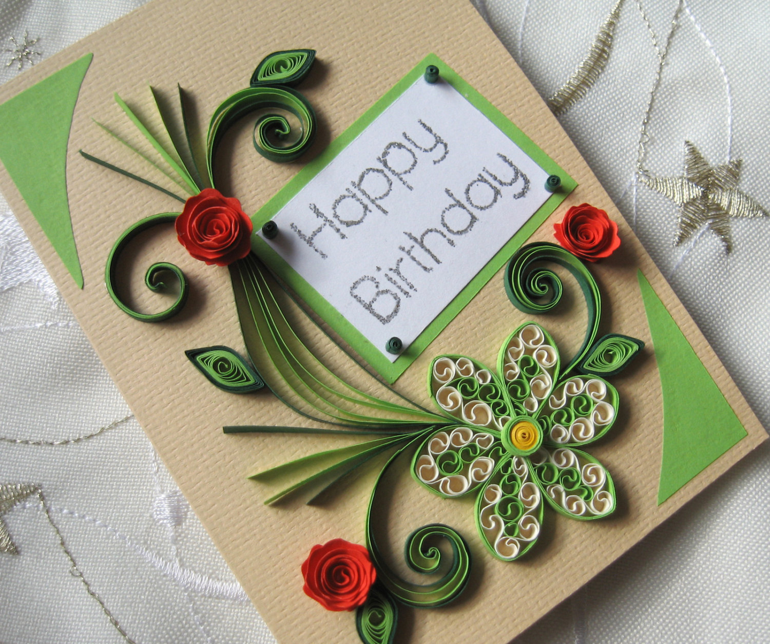 Specal Friend Embellished Birthday Greeting Card Paper Gallery Cards
