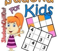 printable kids sudoku