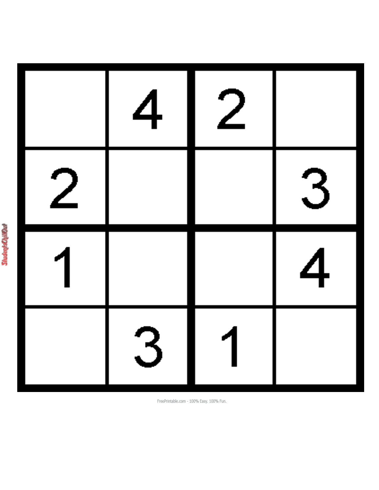 This is a photo of Rare Sudoku for Kids Printable