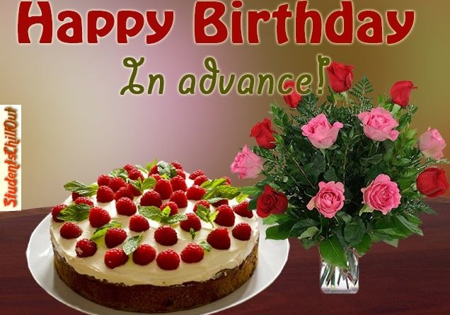 Advance Happy birthday